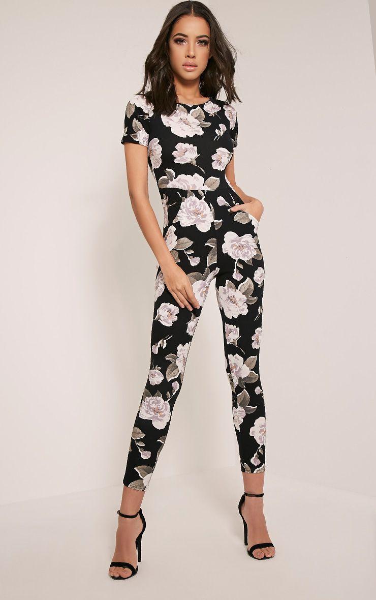 Rachael Ivory Floral Printed Jumpsuit 1