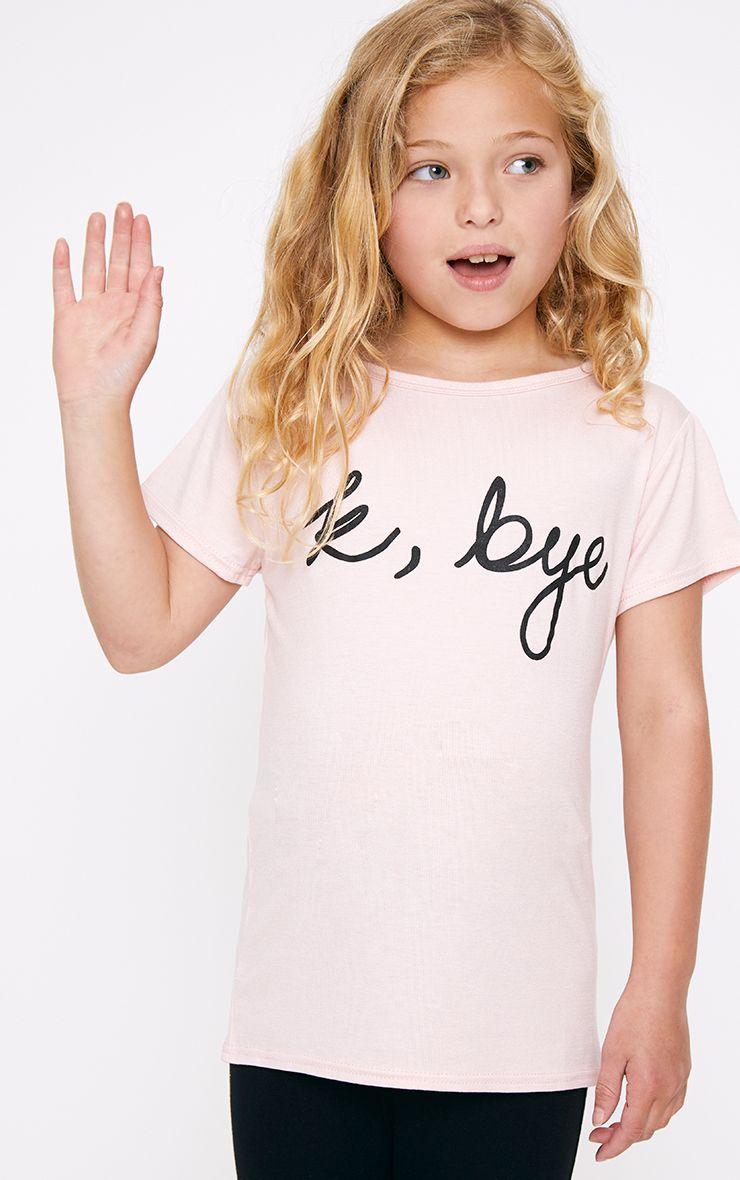 K, Bye Pink T Shirt