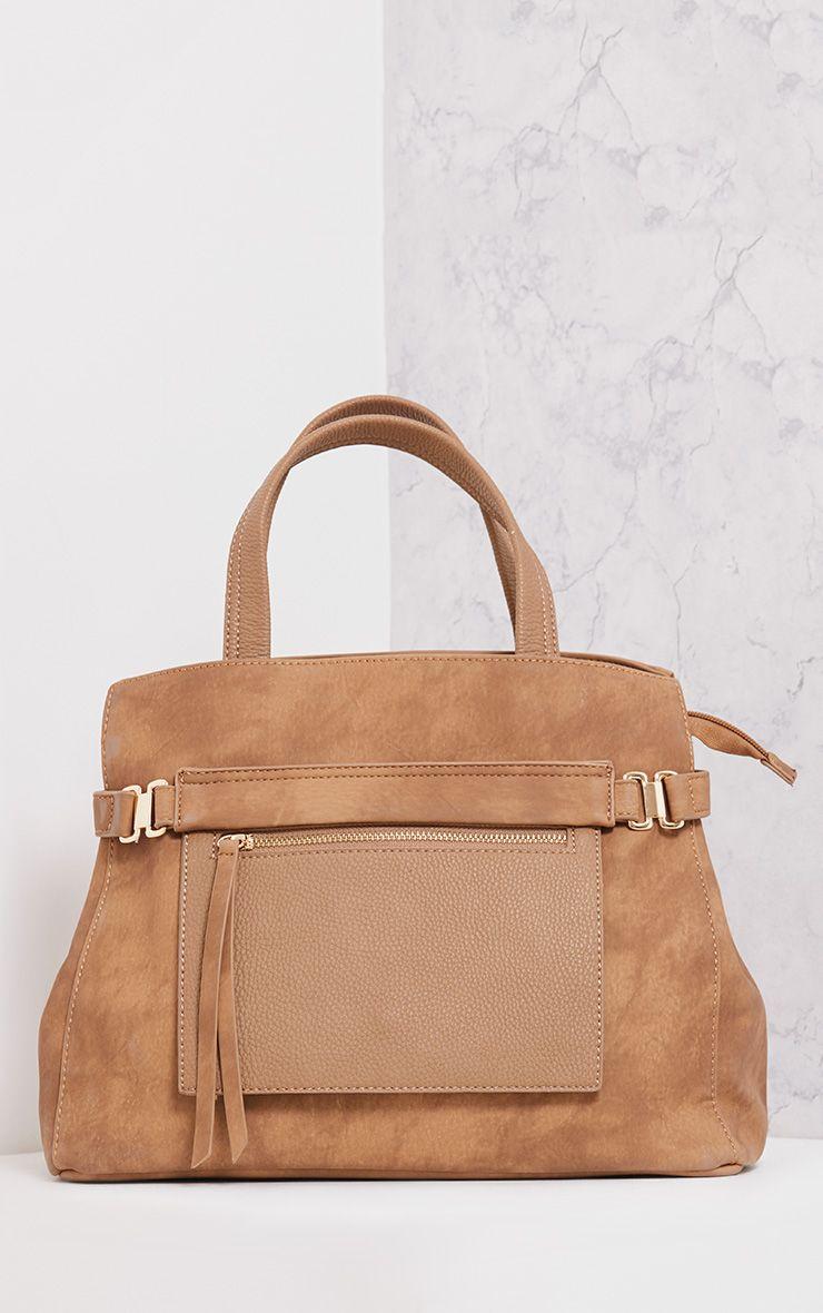 Daigan Camel Pocket Tote Day Bag