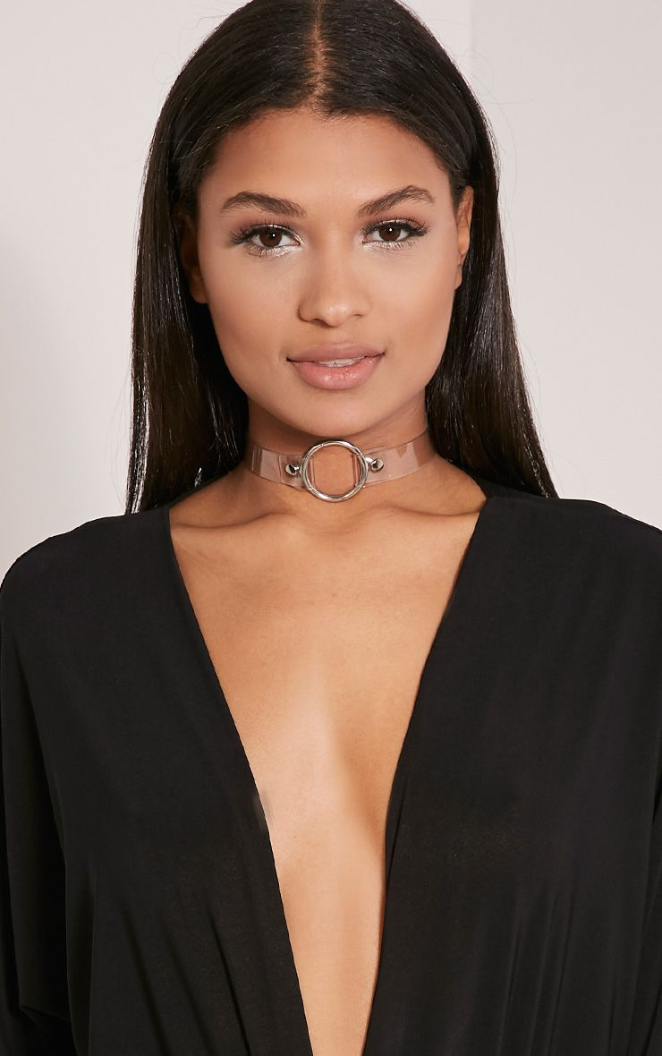 Ariana Clear Ring Detail Choker