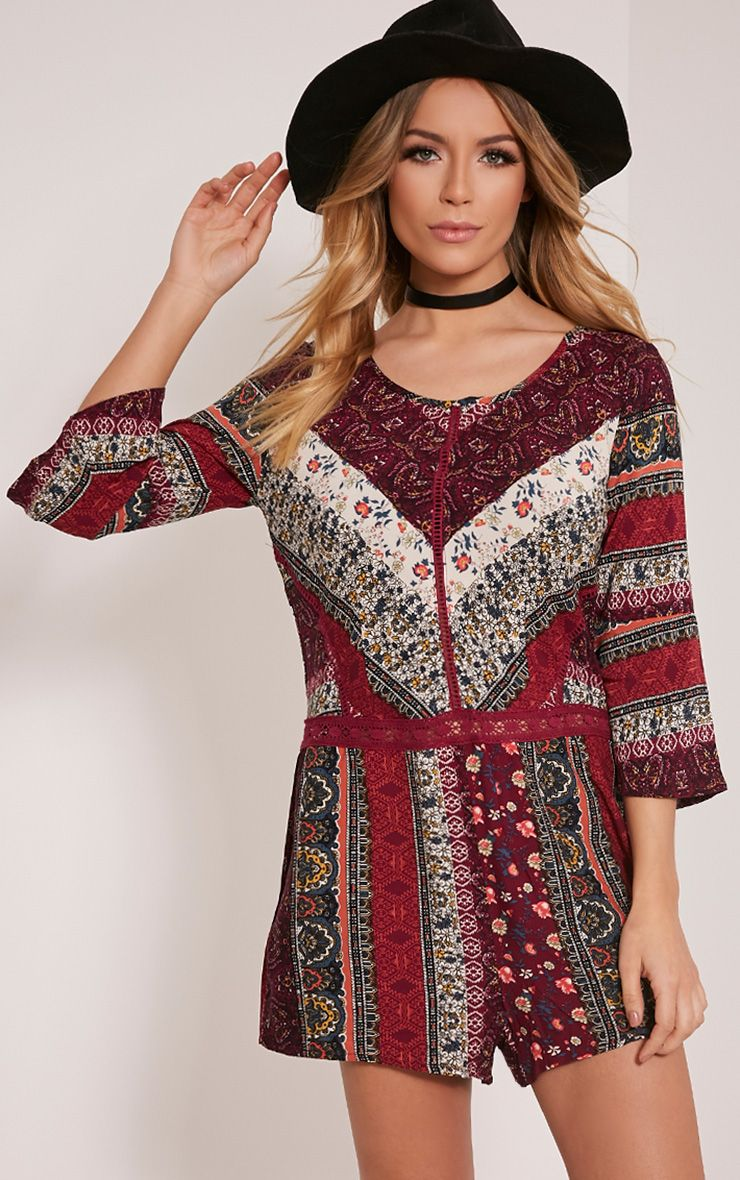 Abby Berry Printed Playsuit 1