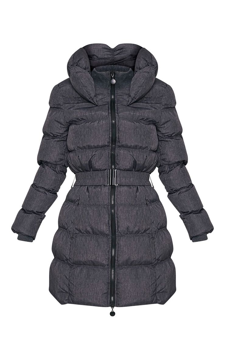 Shawn Grey Belted Puffer Coat 3