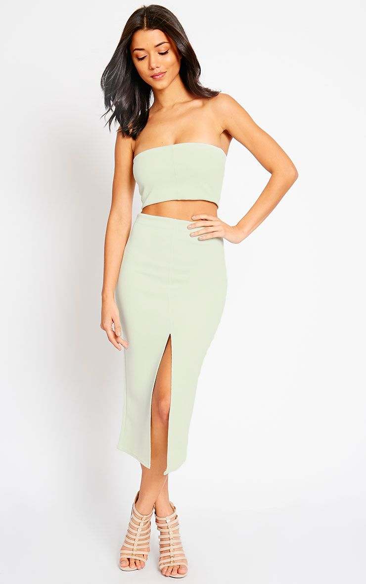 Kaja Mint Scuba Split Skirt 1