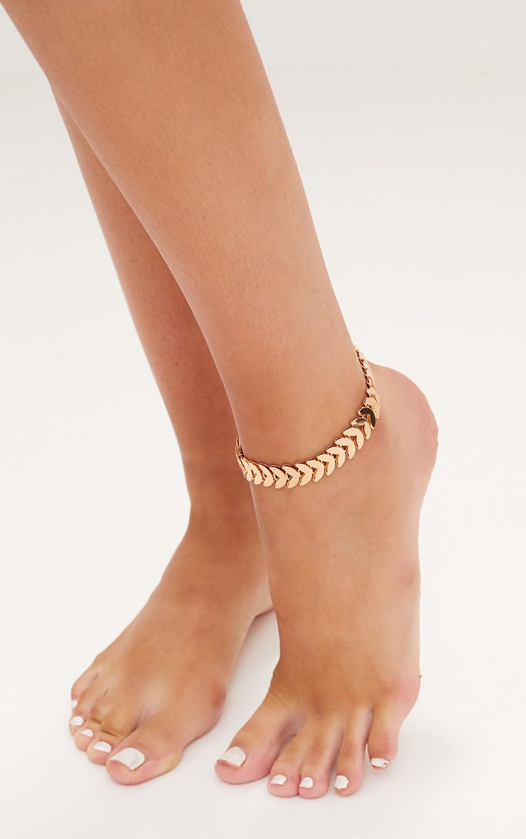 Gold Metal Anklet