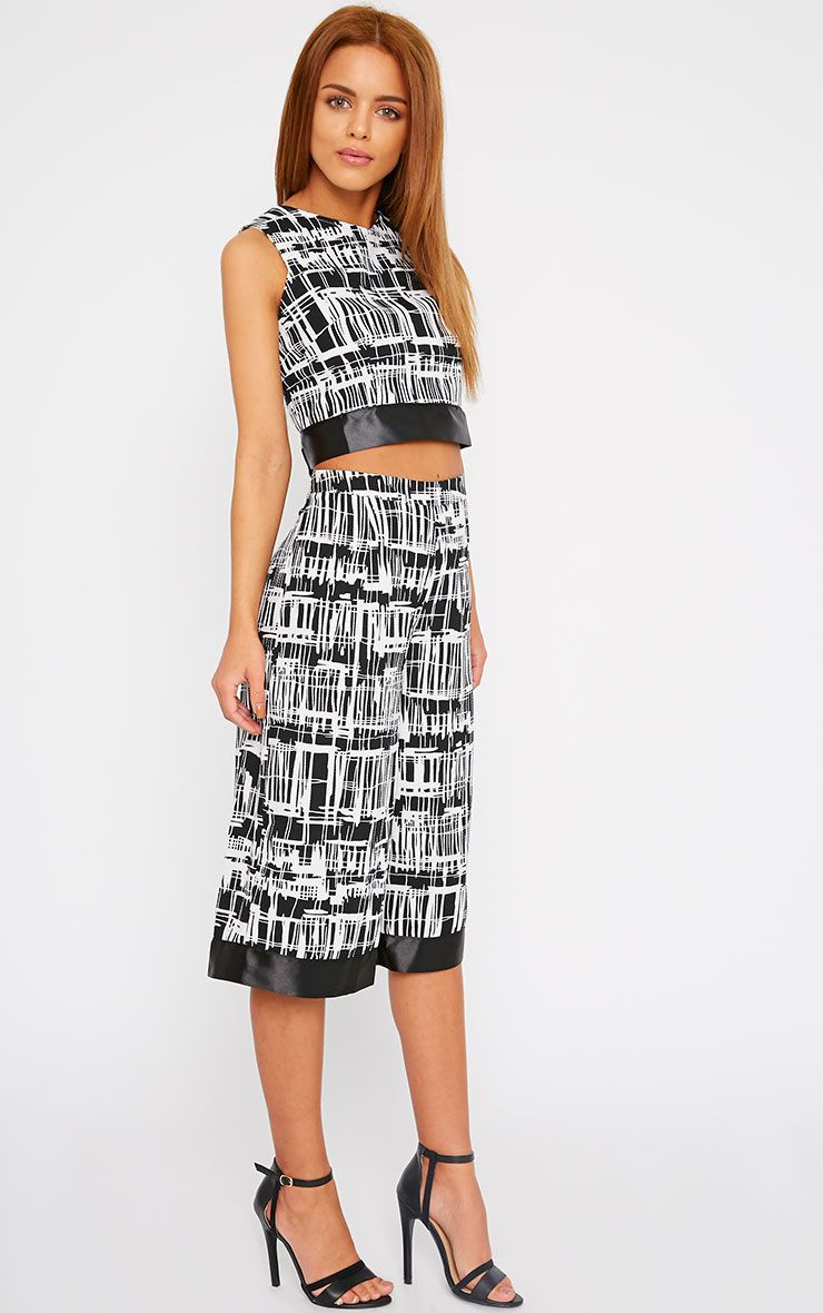 Blake Monochrome Abstract Culotte-XS 1