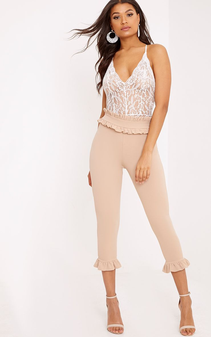 Stone Frill Trim Trousers