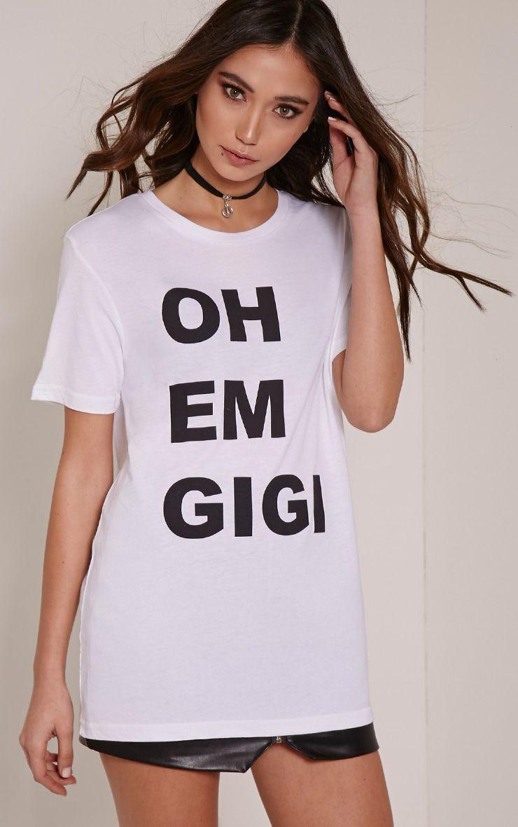 Oh Em Gigi White T Shirt 1