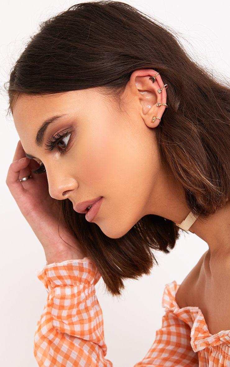 Elsha Gold Moon & Star Ear Cuff