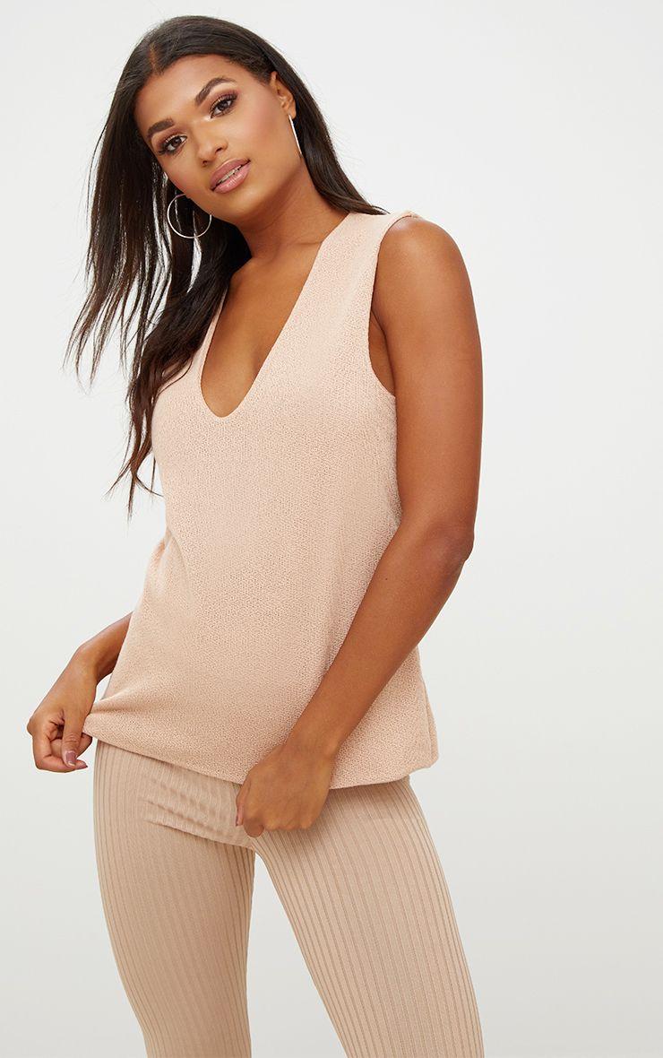 Nude Lightweight Deep V Knit Vest