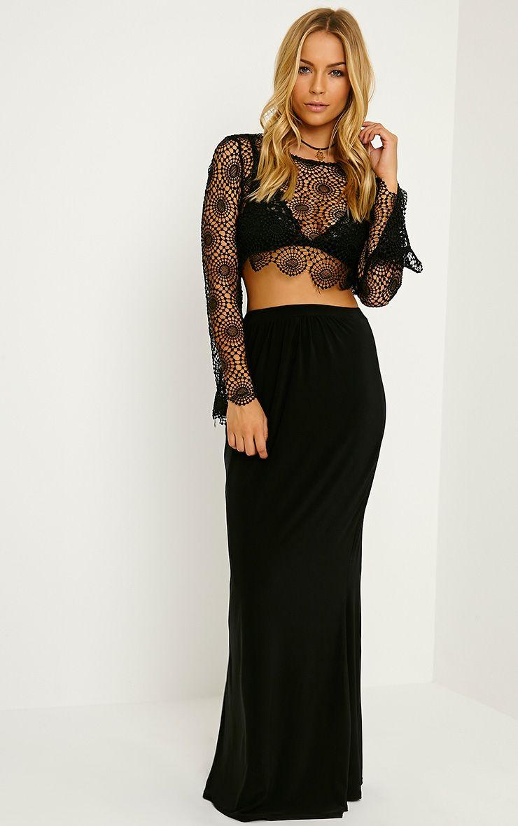 Dalia Black Maxi Skirt 1