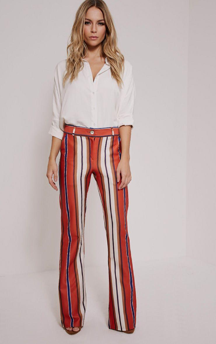 Zadia Orange Stripe Trousers 1