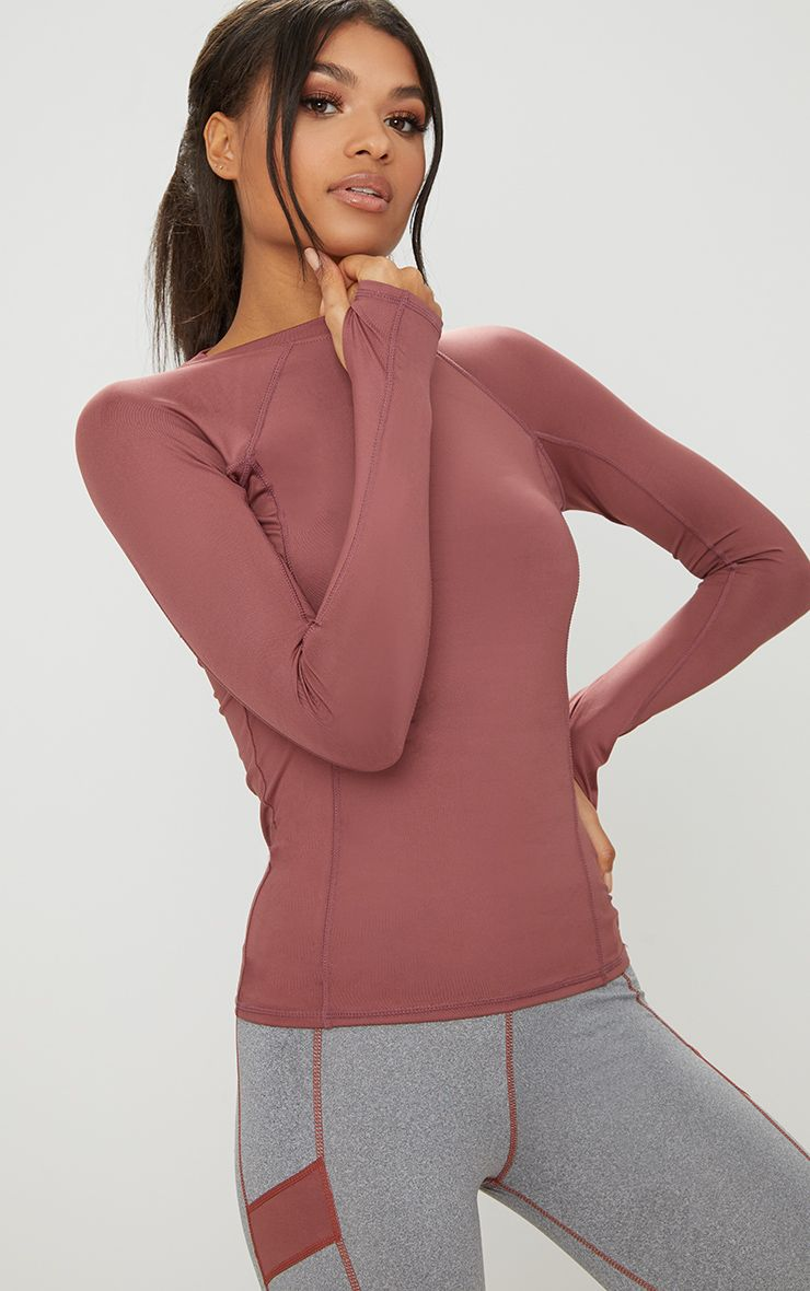 Blush Long Sleeve Gym Top