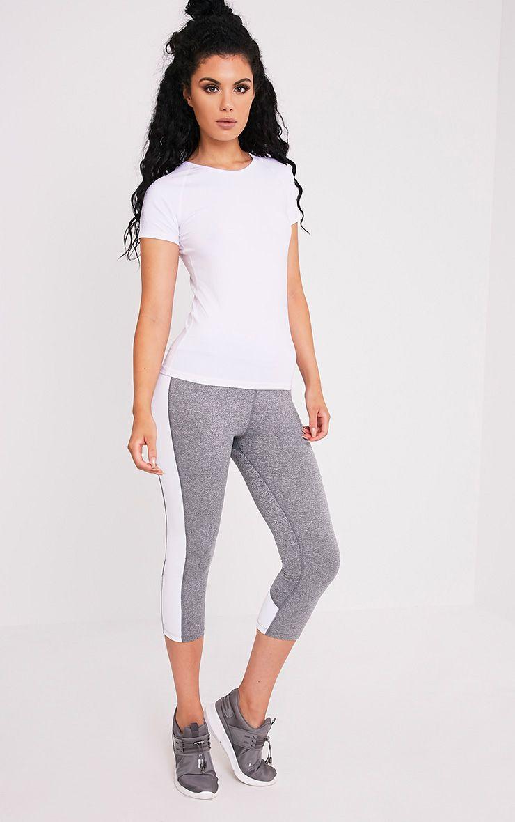 Tia White Short Sleeve Gym T-Shirt 5