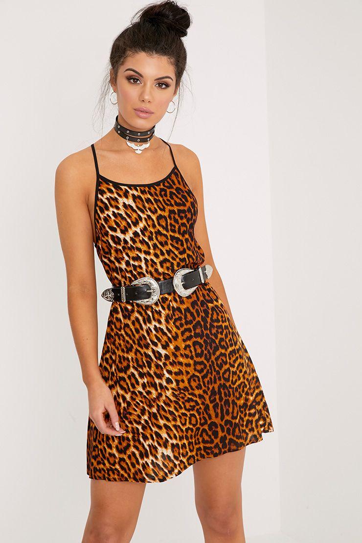 Alicia Leopard Print Swing Dress