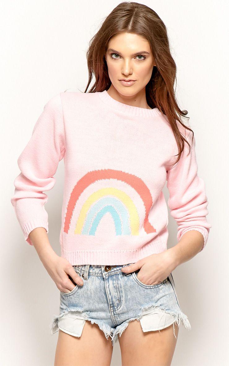 Melanie Pink Rainbow Jumper 1