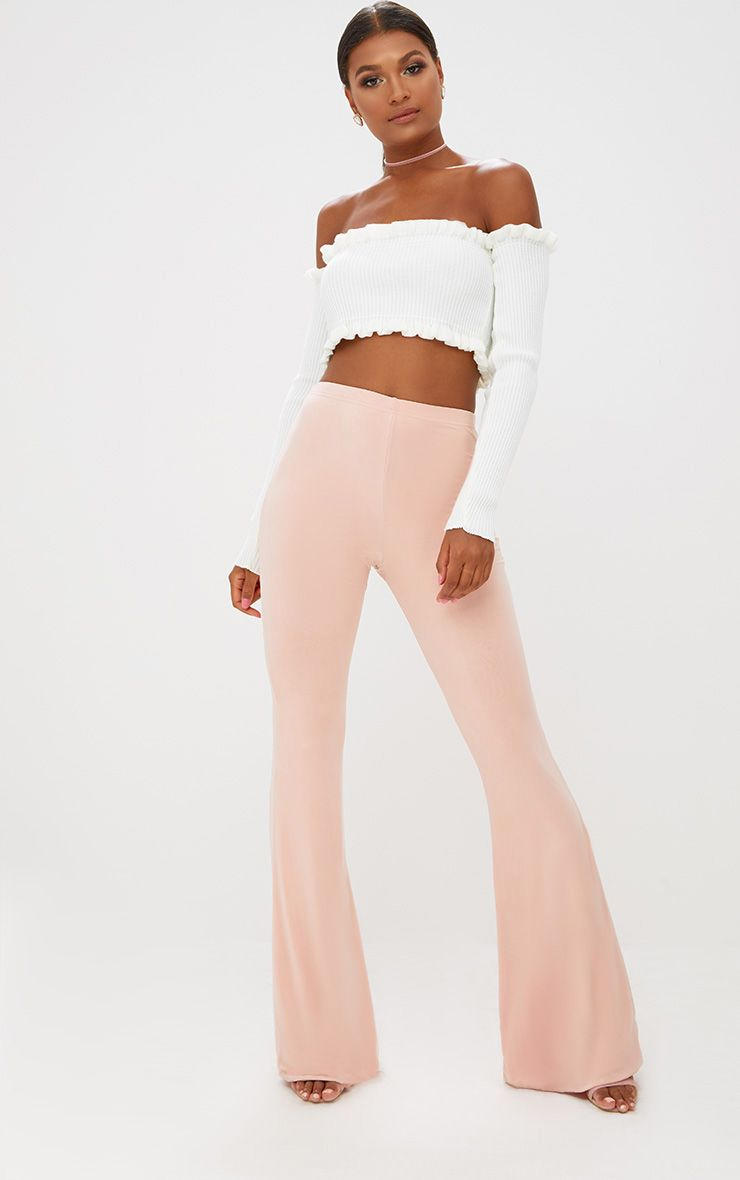 Nude Slinky Flared Trousers