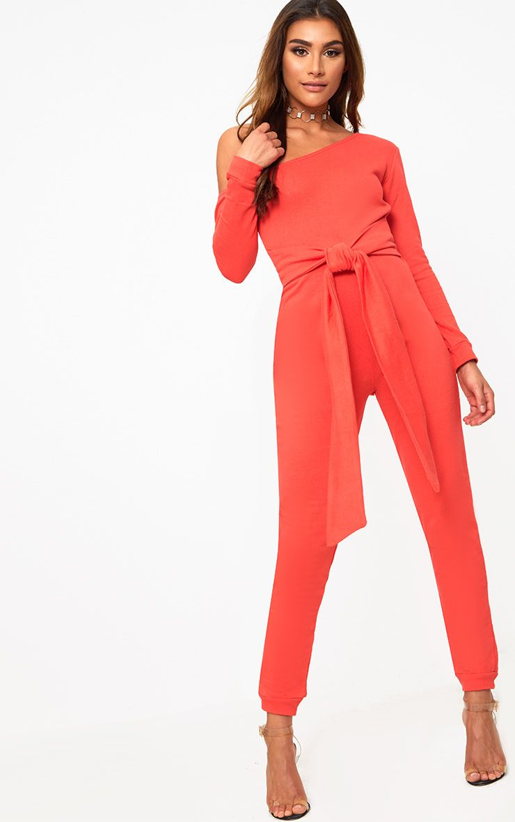 Red Sweat Jumpsuit