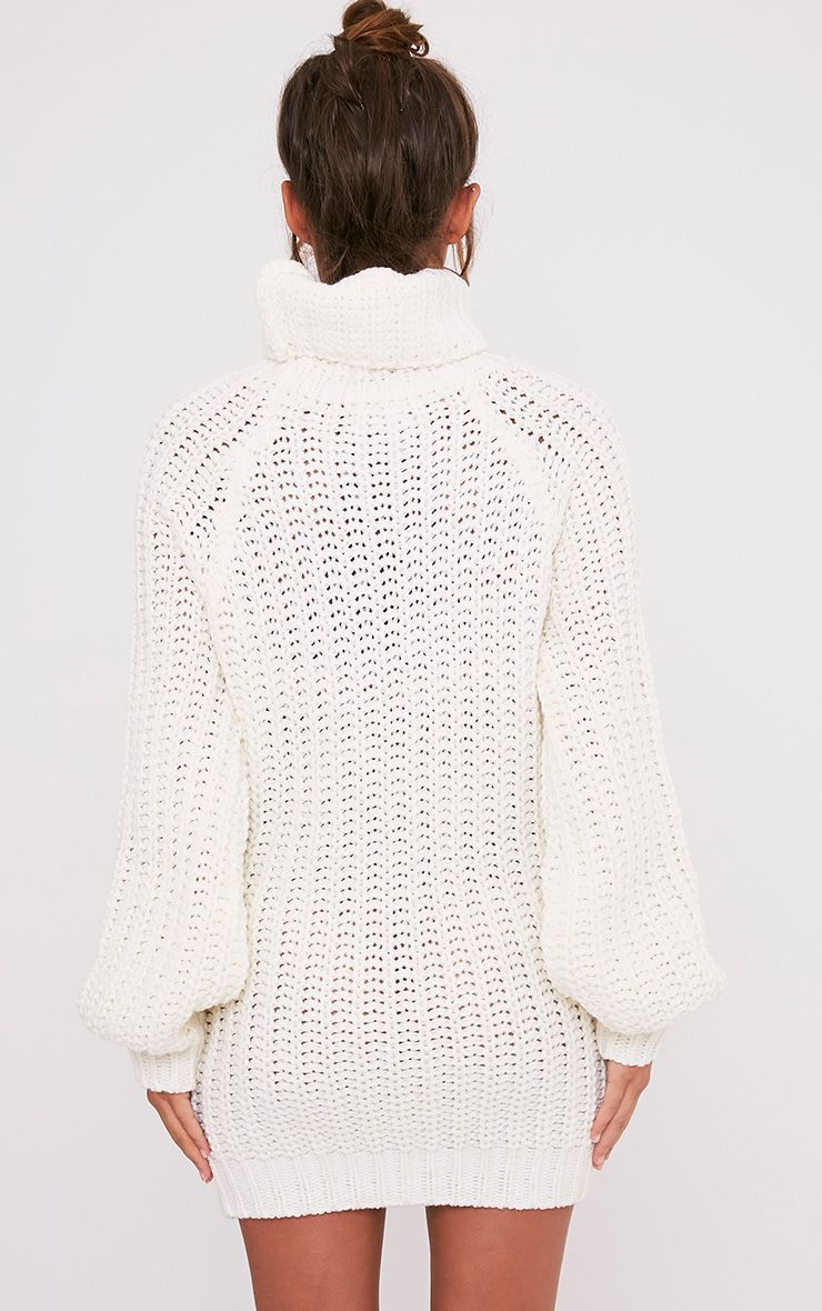 Shainel Cream Roll Neck Chunky Knit Jumper 2