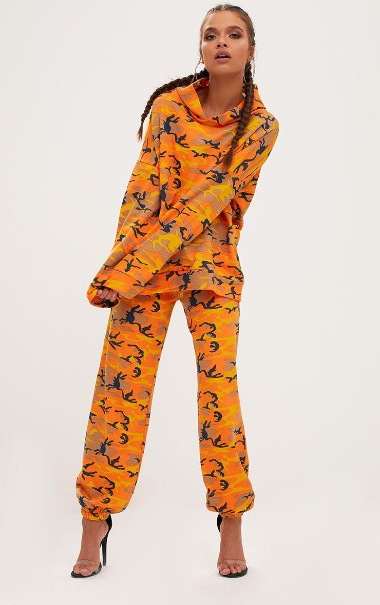 Orange Camo Joggers