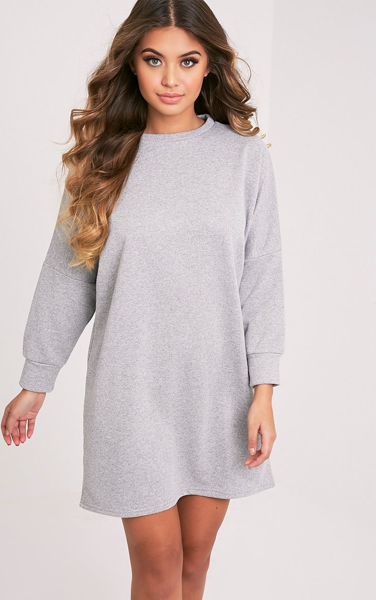 Laine Grey Oversized Sweater Dress
