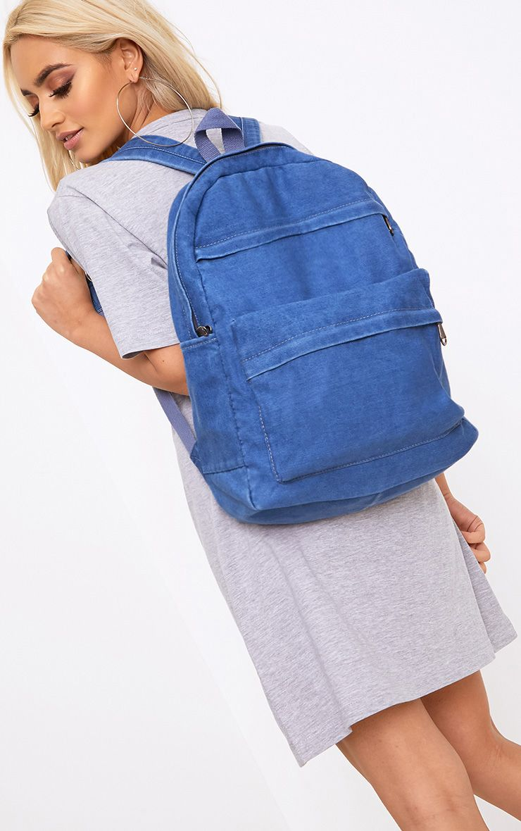 Dark Wash Denim Backpack