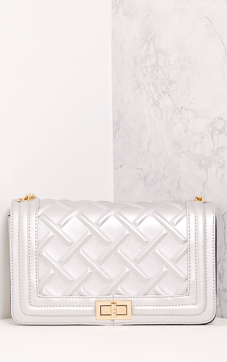 Cindy Silver Chain Strap Shoulder Bag