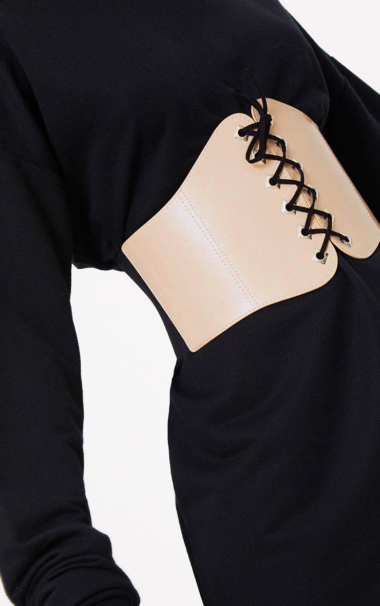 Justice Nude Black Lace Corset Belt