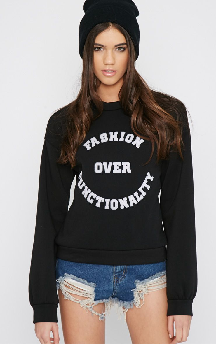 Madison Black Fashion Over Functionality Sweater 1