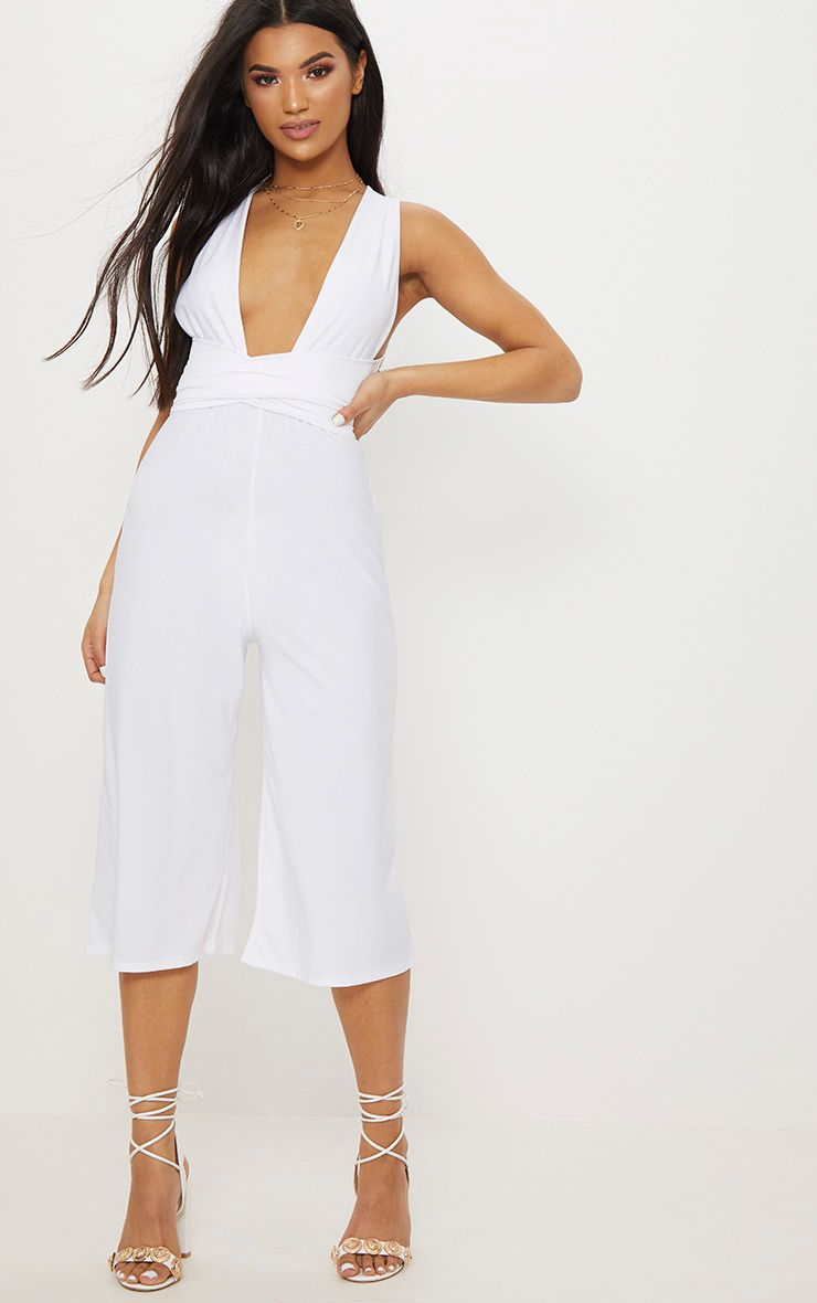 Hot Sale PRETTYLITTLETHING Crepe Multiway Culotte Jumpsuit From China Free Shipping fNLo6dXx1