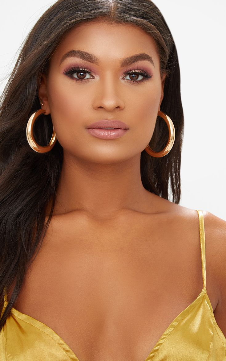 Gold Large Thick Hoops