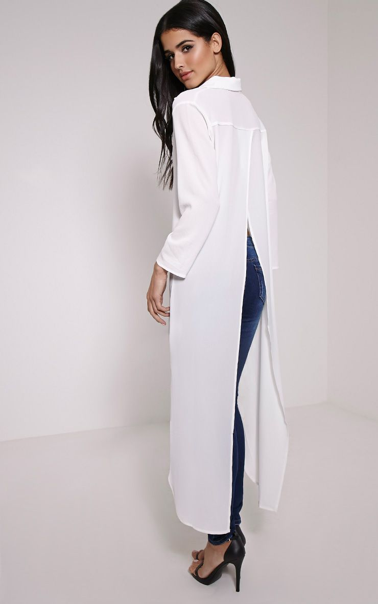 Holden White Open Back Maxi Shirt 1