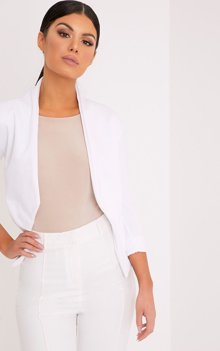 Dawn White Scuba Blazer