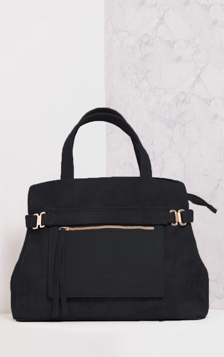 Daigan Black Pocket Tote Day Bag