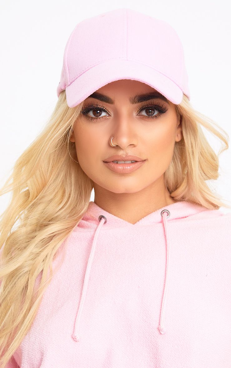 Pink Woven Baseball Cap