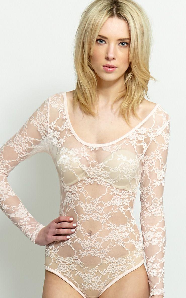 Nadiyah Nude Lace Bodysuit  1