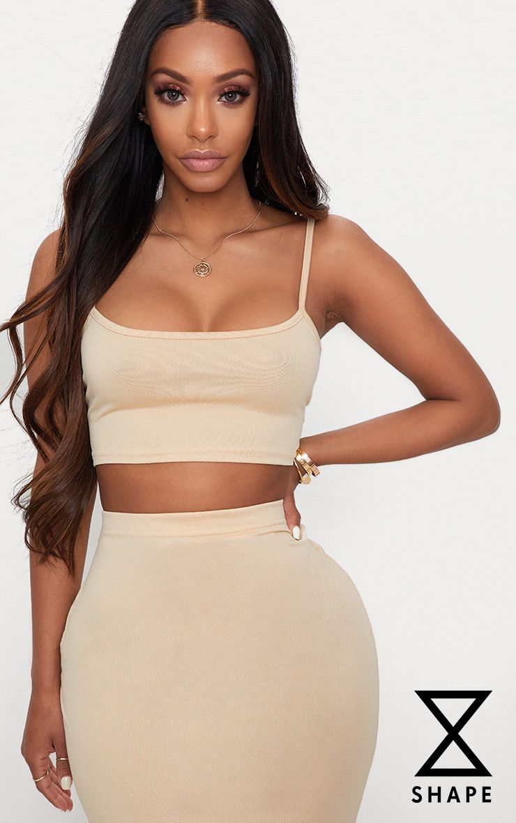 Shape Stone Strappy Crop Top Pretty Little Thing Exclusive Online Discount Get Authentic Clearance Big Sale Visit New Online With Paypal Free Shipping JX7Bh1