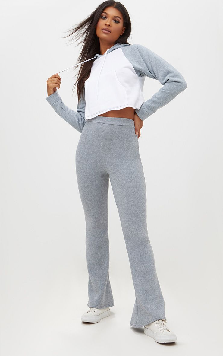 Grey Flared Joggers