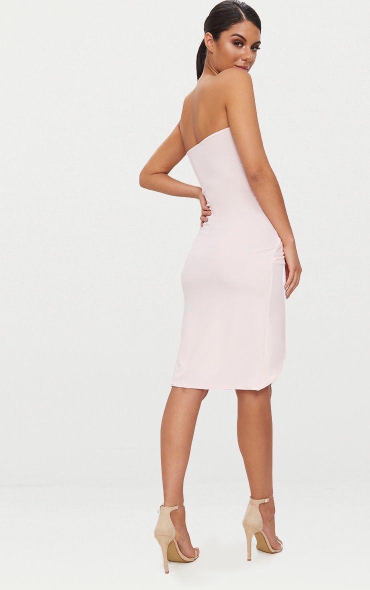 Footaction Sale Online Free Shipping Explore Blush Bandeau V Bar Wrap Detail Midi Dress Pretty Little Thing Shop For Cheap Price Cheap Sale 2018 FCFjuXo