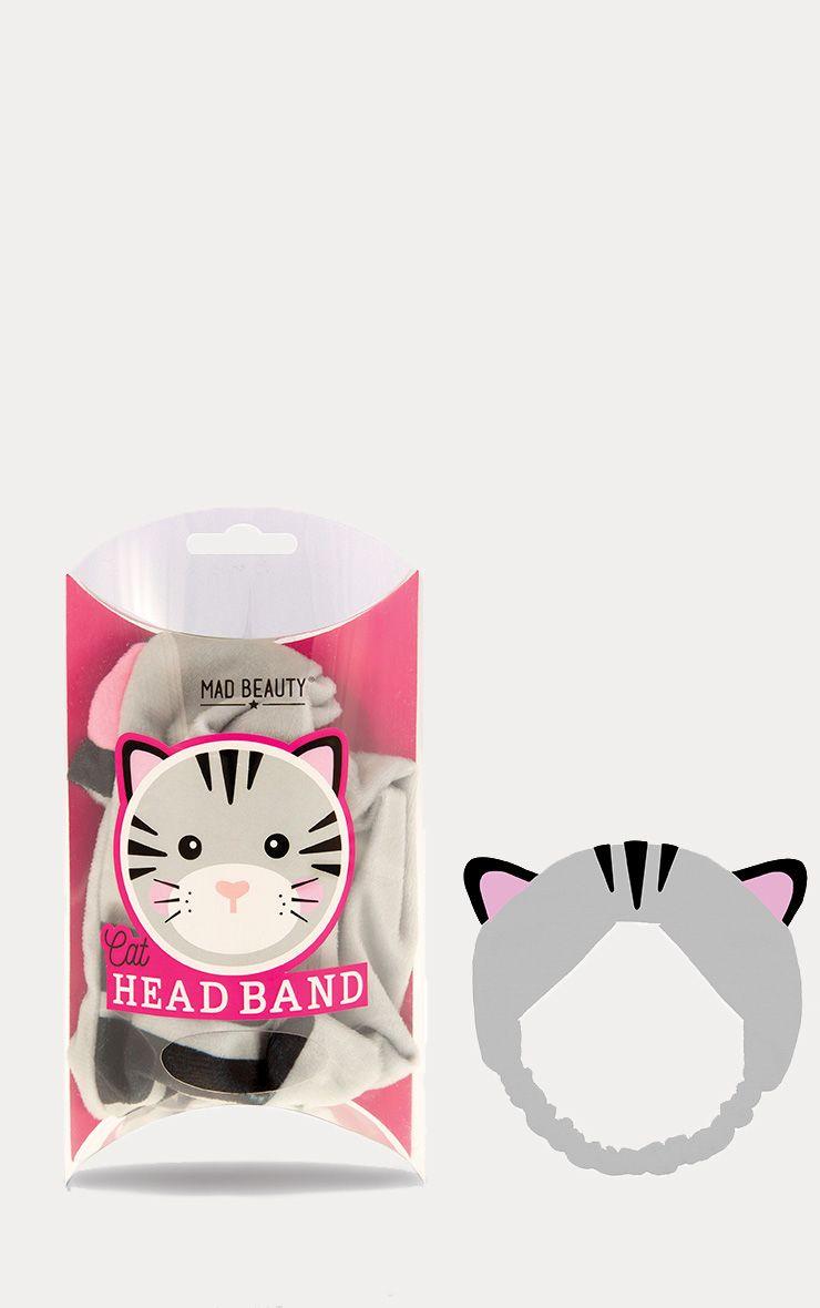 Grey Cat Makeup Headband