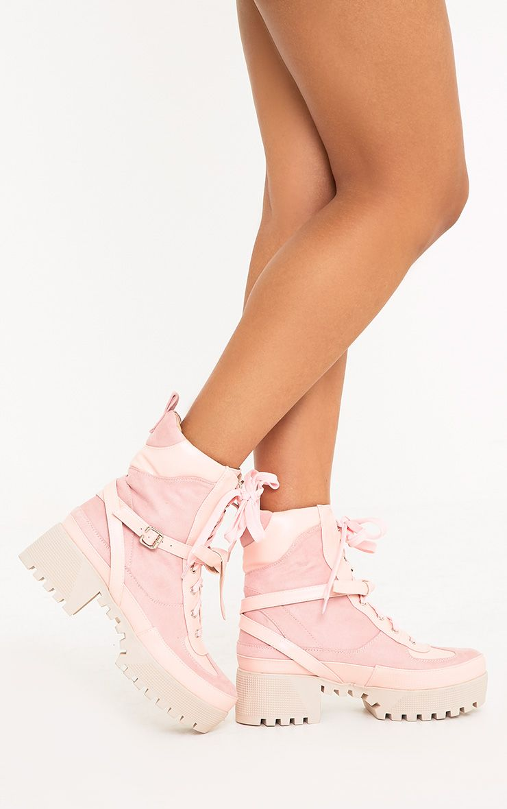 Karmel Baby Pink Biker Boots