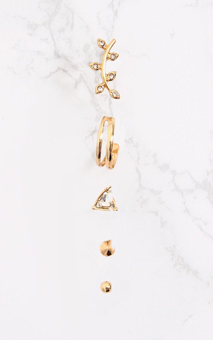 Gold Multi Pack Diamante & Stud Earrings