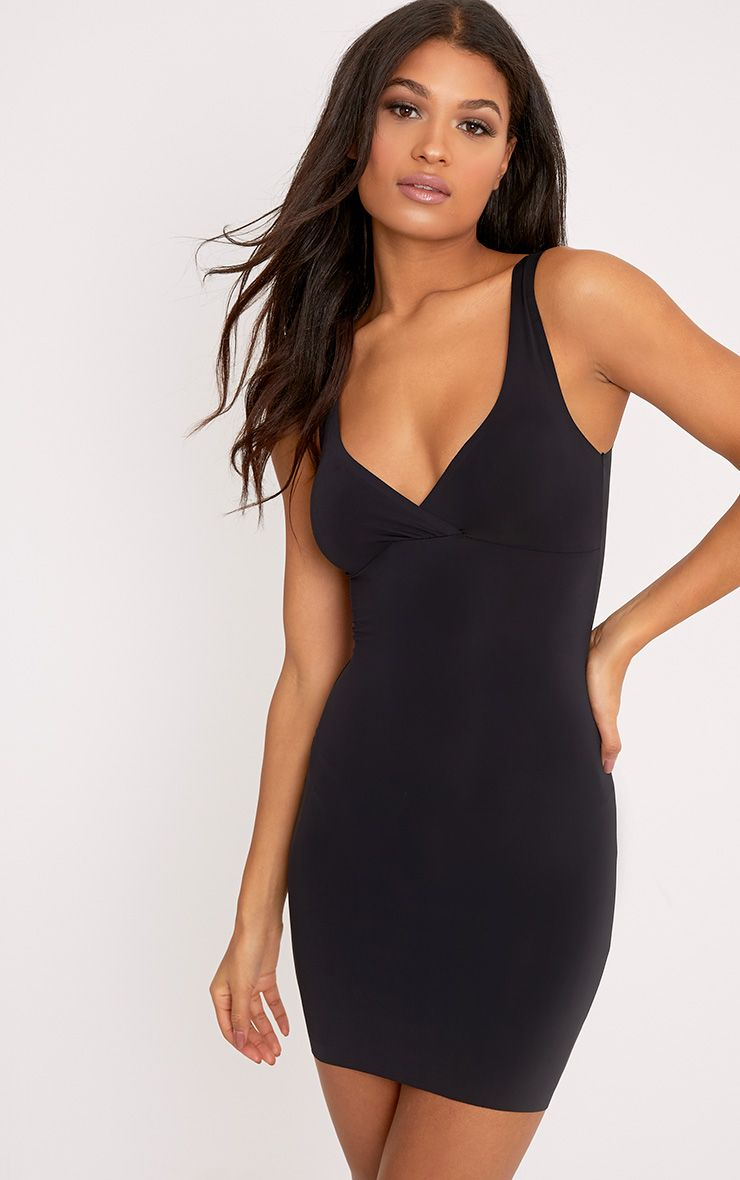 Smoothing Black Invisble Shaping Plunge Slip