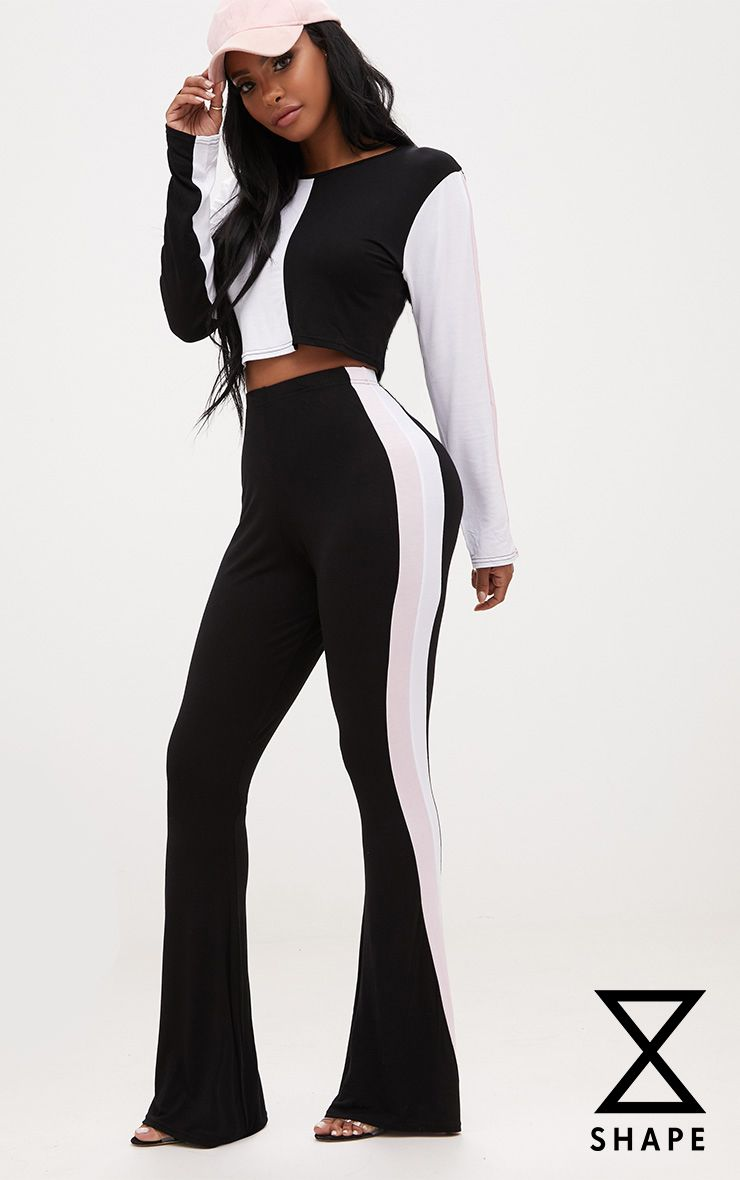 Shape Bridie Monochrome Flared Stripe Detail Joggers
