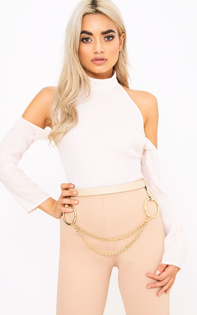 Nude Chain Attachment Waist Belt