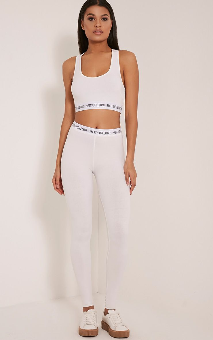 PrettyLittleThing White Leggings