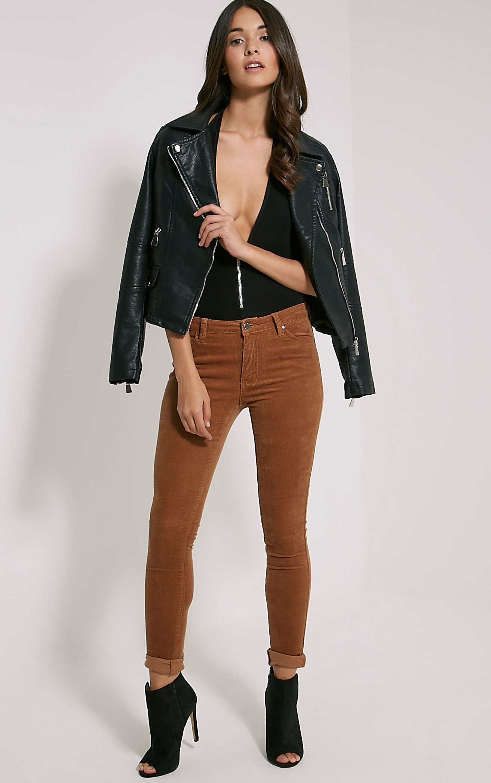 Shay Tan Skinny Corduroy Trousers 1