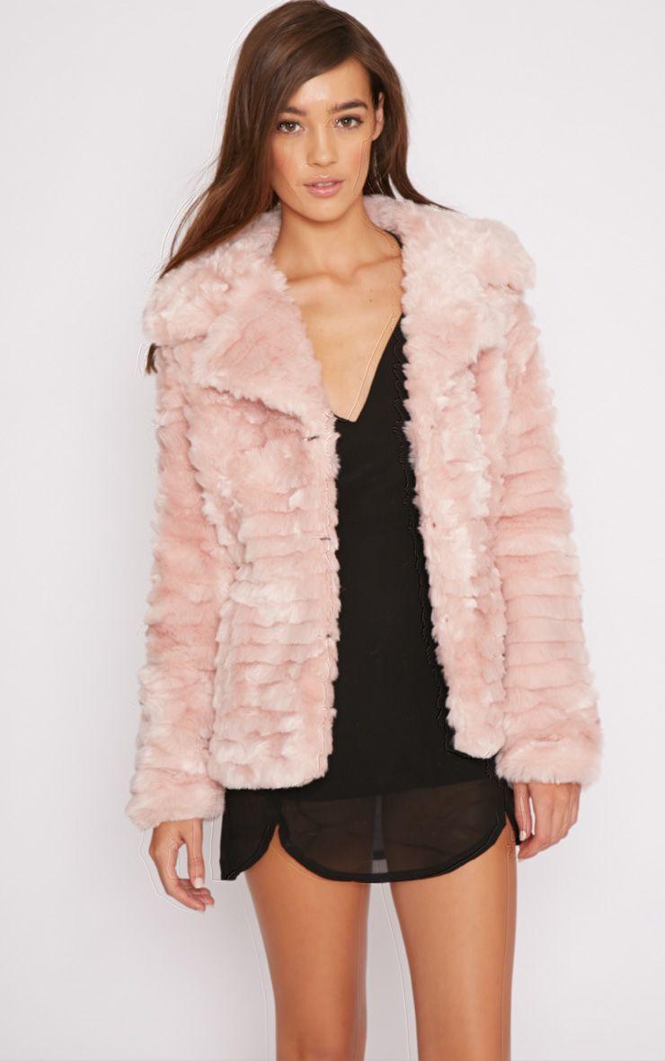 Leela Pink Fur Coat  1