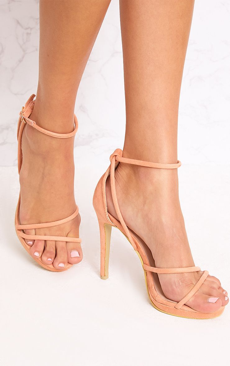 Peach Strappy Heels