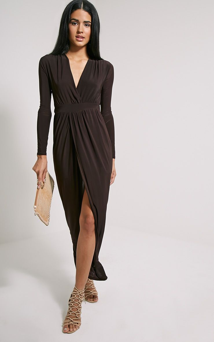 Bex Chocolate Brown Cut Out Maxi Dress
