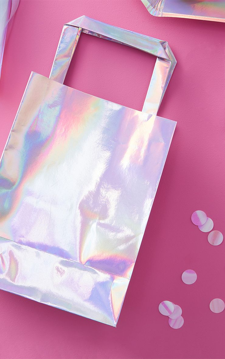 5 Pack Iridescent Party Bags